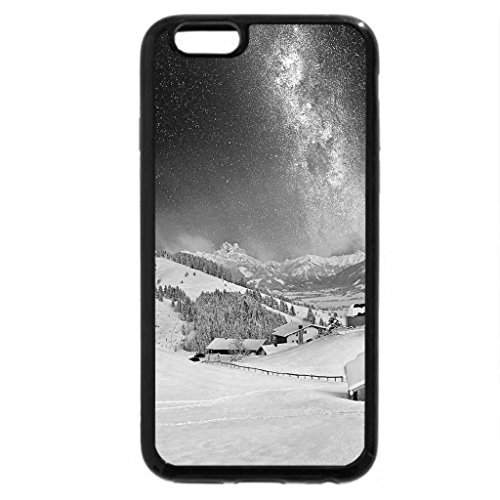 iPhone 6S Plus Case, iPhone 6 Plus Case (Black & White) - Snowfall