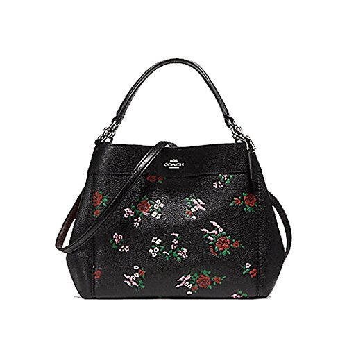 Coach Cross Stitch Floral Small Leather Lexy Tote Purse - #F25858