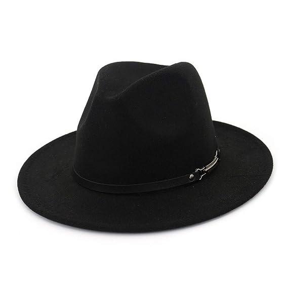 7571e579e1b HYXUM Vintage Fedora Style Hats and borsalino Hat Women Men Wide Brim Jazz  Hat Mafia Felt