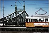 Train on Seven Bridges Budapest Hungary Poster 19 x 13in