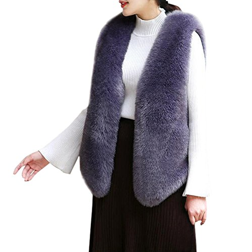 宿泊規範ビルマFashion maker(F&M)ファーベスト レディース 欧米風 袖なし ショート丈 フェイクファー 秋冬 柔らかく ふわふわ おしゃれ 暖かい 高級感 全6色 フリーサイズ