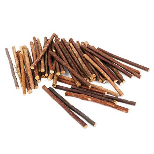 PIXNOR 100pcs Wooden Craft Sticks 10CM Long 0.5-0.8CM -