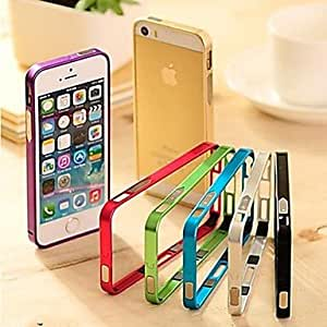 PEACH 0.7 mm Ultra Thin Slim Frame Bumper Case Cover for iPhone 5/5S(Assorted Colors) , Silver