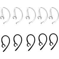 Crystal Bluetooth Ear Hooks 5 Transparent N 5 (Black, 6 mm)-10 Pieces
