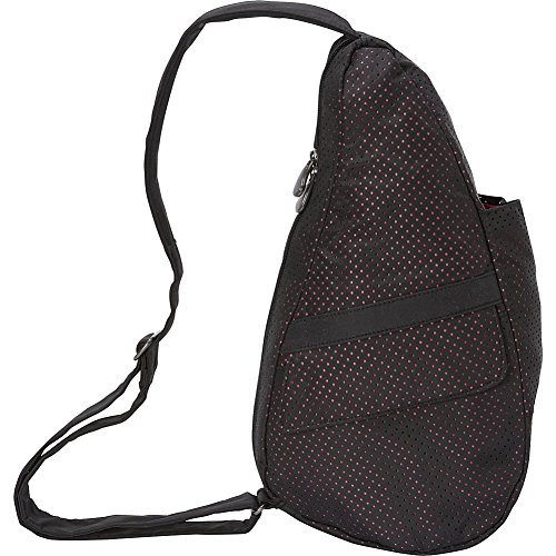 ameribag-healthy-back-bag-extra-small-perforated-microfiber-black-with-pink