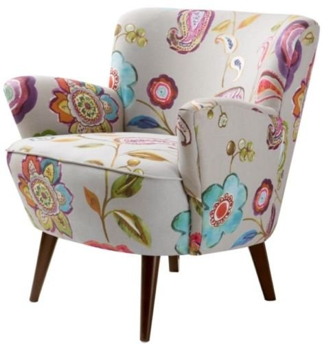 Sophie Floral Accent Chair Modernfloral Chair Living Room Fabric Upholstery Chair