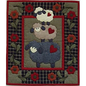 Amazon.com: Rachel's Of Greenfield Wooly Sheep Wall Hanging Quilt ... : quilted wall hanging kits - Adamdwight.com
