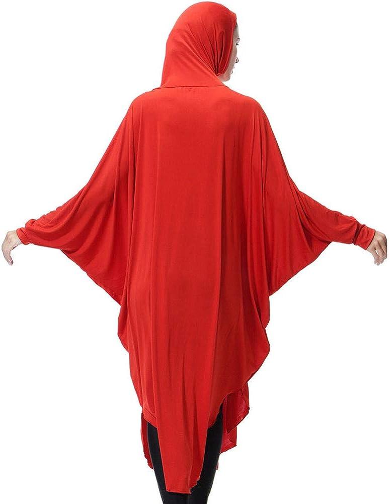 Langer Hijab Integriertem Haarband H/ält Praktisches Kopftuch F/ür Muslimische Frauen Lazzboy Muslim Daily Feste Langarm Lange Vintage Kleider Khimar Mit Niqab Option