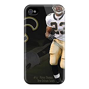 Fransh485b54 Iphone 4/4s Hybrid Tpu Cases Covers Silicon Bumper New Orleans Saints