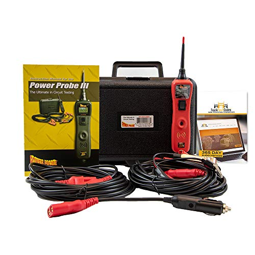 Diesel Laptops Power Probe 3 (III) Red Big Display Circuit Tester Kit in Case with 12-Months of Truck Fault Codes by Diesel Laptops (Image #6)