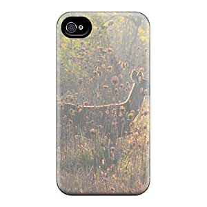 Slim Fit Tpu Protector Shock Absorbent Bumper Young Lady In The Morning Case For Iphone 4/4s