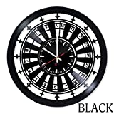 Poker Roulette Design Vinyl Wall Clock – handmade gift for any occasion – unique birthday, wedding, anniversary, Valentine's day gifts - Wall décor Ideas for any space