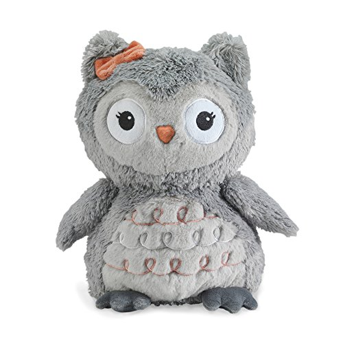Lambs & Ivy Family Tree Coral/Gray/Gold Owl Plush Owl - Izzy]()