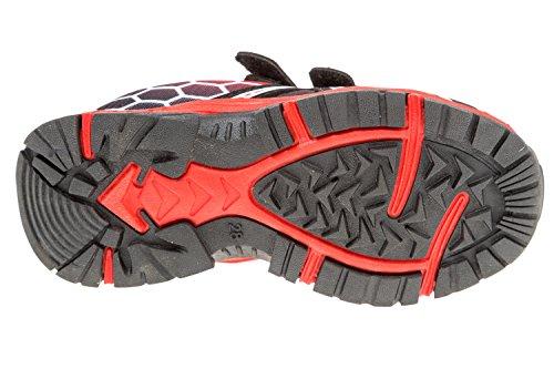 gibra - Zapatillas de sintético/textil para niño blanco / rojo
