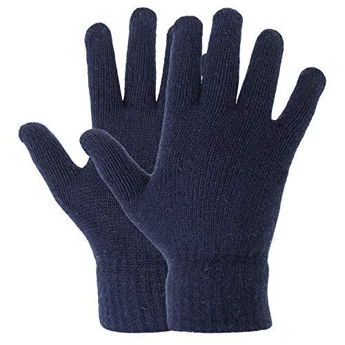 Zacharias Men #39;s Solid Woolen Gloves  Blue;Free Size