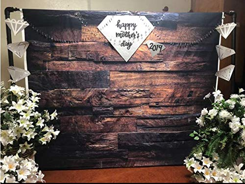 CYLYH 10x10ft Photography Backdrop Brown Wood 3D Backdrops for Picture Customized Vinyl Photo Background D104 by CYLYH (Image #5)