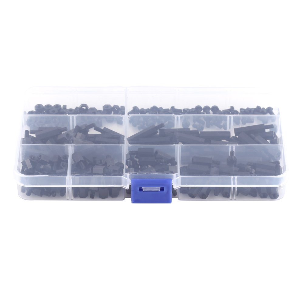 250Pcs M2 //M3 Hex Column Standoff Spacer Pillars Screws Nuts Assortment Kit with Storage Box M3 Male to Female