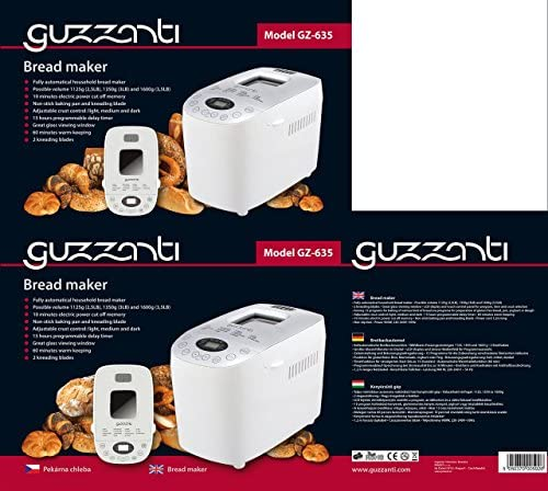 Guzzanti GZ 635 Máquina para Hacer Pan Completamente Automática ...