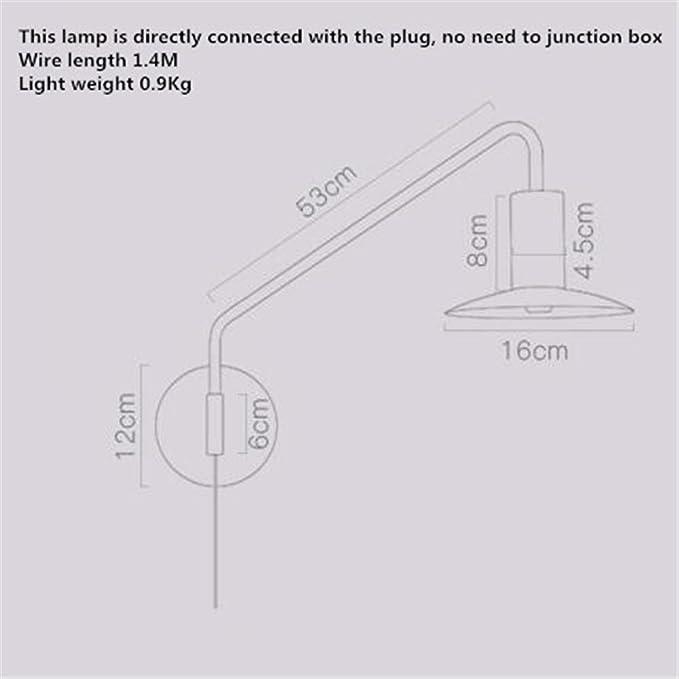 LED Wandleuchte Nachttischlampe Modern Kreativ Mode Weiß Einzelner ...