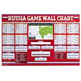 "2018 Russia Poster,Russia Game Wallchart,Soccer Poster-Large 25""/17.5"""