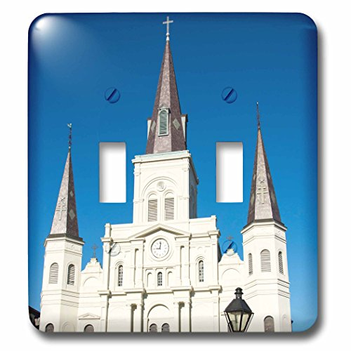 Danita Delimont - Architecture - US, New Orleans. St Louis Cathedral Plaza D Armas holiday decor - Light Switch Covers - double toggle switch (Cathedral Plaza)