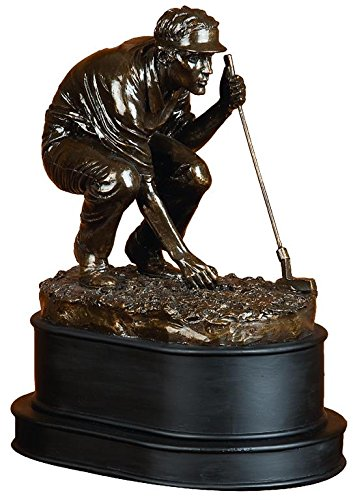 Deco 79 Poly-Stone Golf Player, 10 by 8-Inch (Golf Decor For Home)