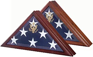 product image for Marine Corp Flag Case,Presidential Flag Display Case with Seal and hinged lid