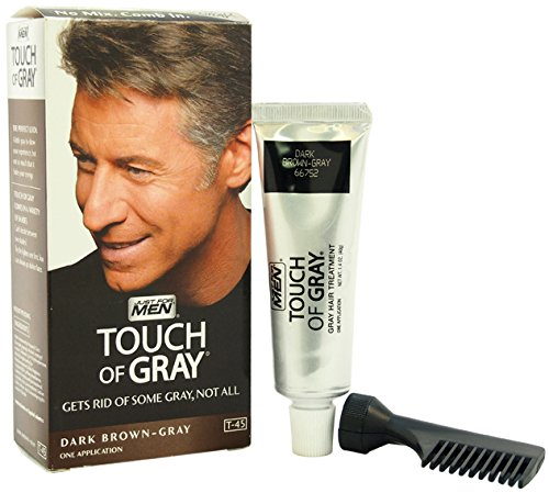 Men JUST FOR MEN Touch of Gray Hair Treatment T-45 Dark Brown-Gray hair Color 1 pcs sku# 1788466MA