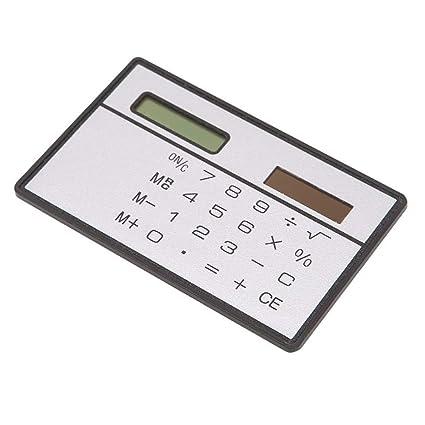 8 Digits Basic Calculator Ultra Thin Slim Mini Credit