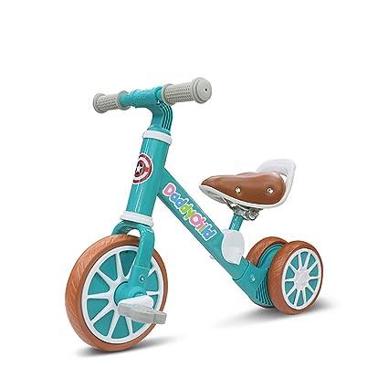 Amazon.com: WANGPIPI Bicicleta de equilibrio para bebé, 2 en ...