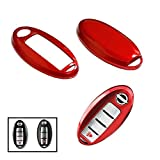 nissan rogue smart key - iJDMTOY (1) Exact Fit Gloss Metallic Red Smart Key Fob Shell For Nissan Armada Rogue GT-R Murano Pathfinder Sentra Leaf Titan (4-Button only)