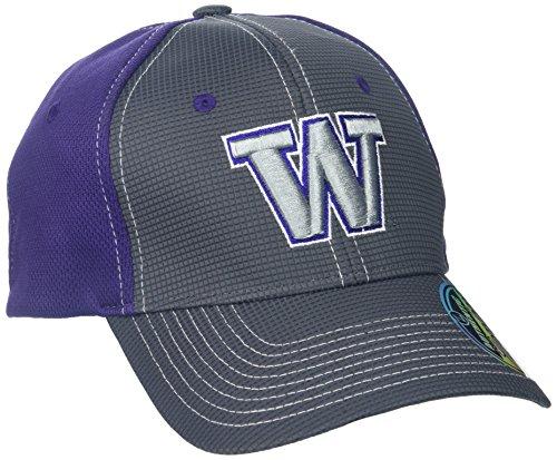 Zephyr NCAA Washington Huskies Adult Men Grid Cap, Medium/Large, Gray/Team Color