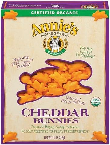 Annies Homegrown Organic Cheddar Bunnies, 11 Ounce -- 12 per case.