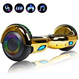 "Felimoda 6.5"" Hoverboard for Kids and Adult Two-Wheel Self-Balancing Scooter- UL2272 Certificated, withColorful RGB Flash LED Lights"