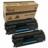 2 Pack V4INK® HP CF280A New Compatible Toner Cartridge (HP 80A) for HP LaserJet Pro 400 MFP M401 / M425 Laser Toner Printers, Office Central