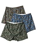Men's camouflage print 3-pack boxer shorts with relaxed fit