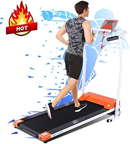 ANCHEER Treadmill, Electric Treadmills for Home with LCD Motorized Running Walking Jogging Exercise Fitness Machine Trainer Equipment for Home Gym Office 1