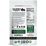Biofinest Acai Berry Juice Powder - 100% Pure Freeze-Dried Antioxidant Superfood - USDA Certified Organic Kosher Vegan Raw Non-GMO - Cleanse Digestion Weight Loss - For Smoothie Beverage Blend (4 oz)