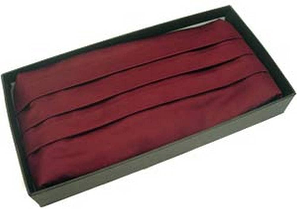 Michelsons of London Mens Silk Cummerbund - Wine Red