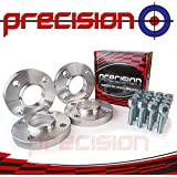 Precision 1 Pair of Hubcentric Wheel Spacers with 8 Bolts for Aftermarket Wheels 15mm✓ Aluminium✓ 4x108✓ 4*Stud✓ 65.1mm✓ M12x1.25x45mm✓
