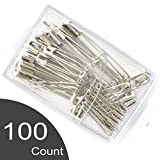 #3: Malmo Assorted Safety Pins, 4 size, 100-Count