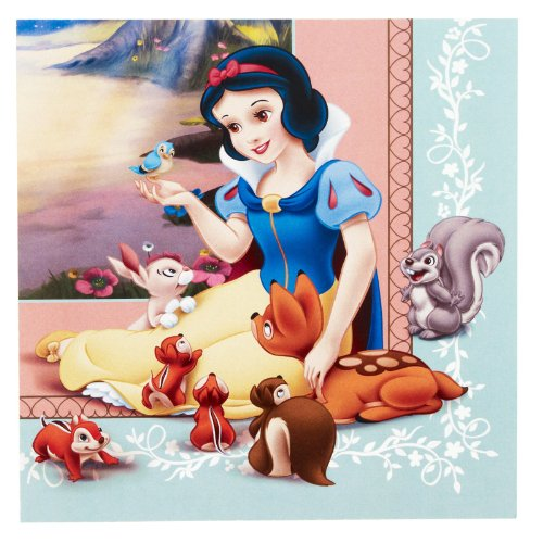 7 White And Dwarfs Costumes Snow (Snow White and the Seven Dwarfs Large Napkins)