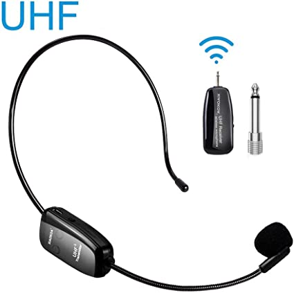 Amazon Com Wireless Microphone Headset Uhf Wireless Mic Headset And Handheld 2 In 1 160 Ft Range For Voice Amplifier Stage Speakers Teacher Tour Guides Fitness Instructor Do Not Support Phone Mac Laptop Musical Instruments