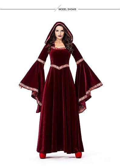 ZJWZ Disfraz De Hechicero Vampiro Rojo Vino De Halloween ...