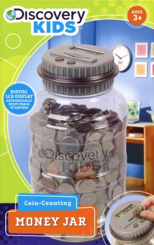 Discovery Kids Coin-Counting Money Jar - Grey