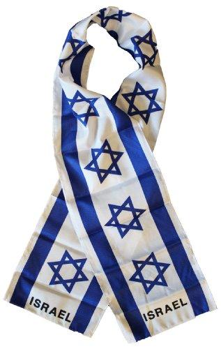 """Israel - 8"""" x 63"""" Lightweight Flag Scarf"""