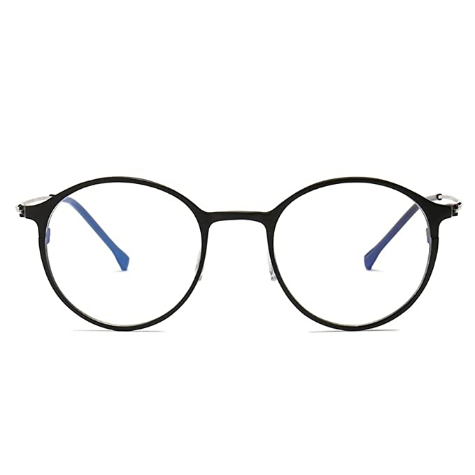 Color : Brown Mkulxina Anti-blue Light Glasses For Men And Women Round Anti-radiation Glasses