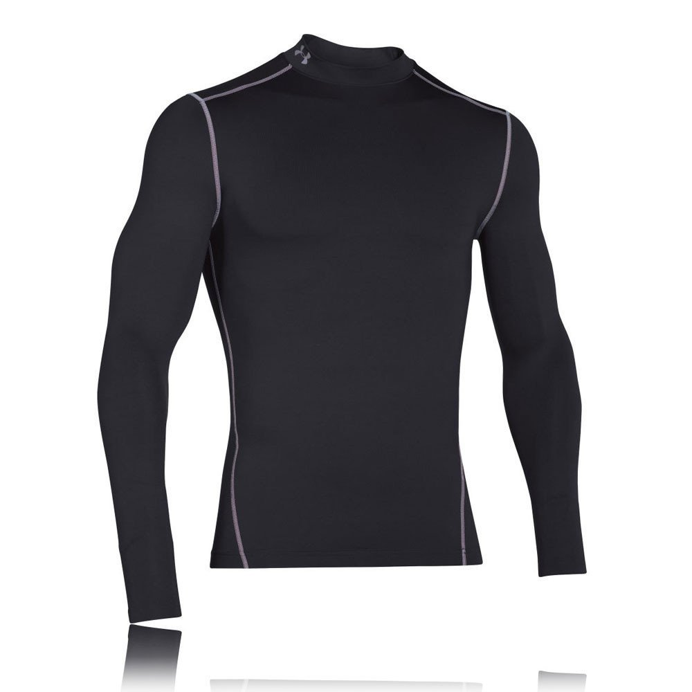 Under Armour CG Armour Mock - Camiseta de Manga Larga para Hombre, Color Negro,