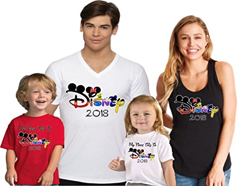 Disney Trip Matching Family Vacation Shirt In Different Styles and Colors L - Styles Different Men's
