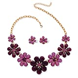 Best Palm Beach Jewelry Statement Necklaces - Plum and Lavender Simulated Crystal Yellow Gold Tone Review